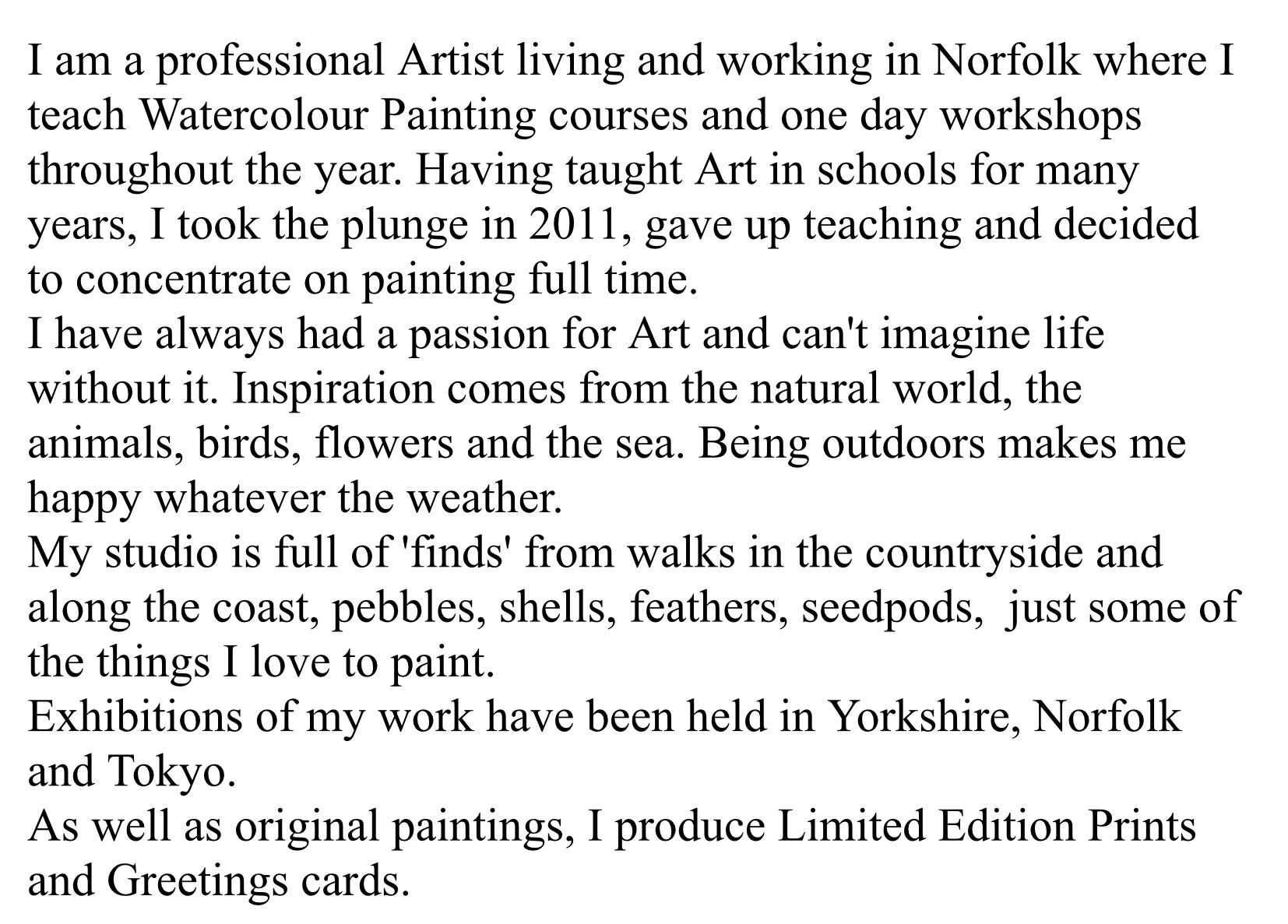 Artist's Statement