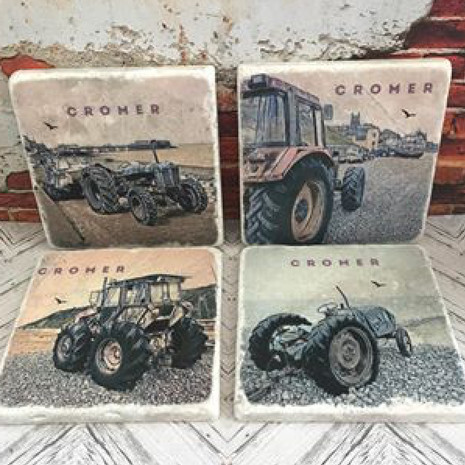 Cromer Tractor Coasters £6 each 4 for £20