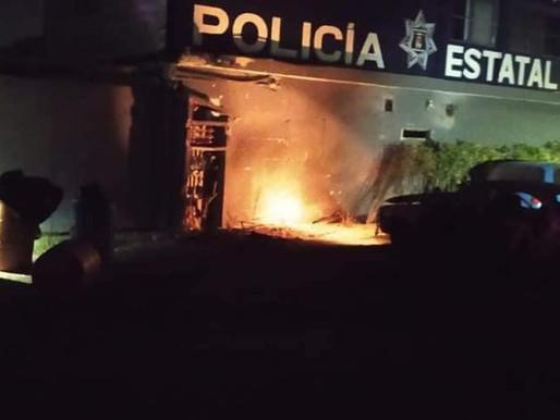 ATENTADO CONTRA LA BASE DE LA POLICÍA ESTATAL EN PLAYA DEL CARMEN
