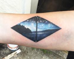 Landscape prism tattoo, Somerset