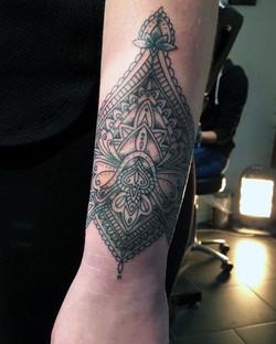 Wrist tattoo.Tattooist in Somerset