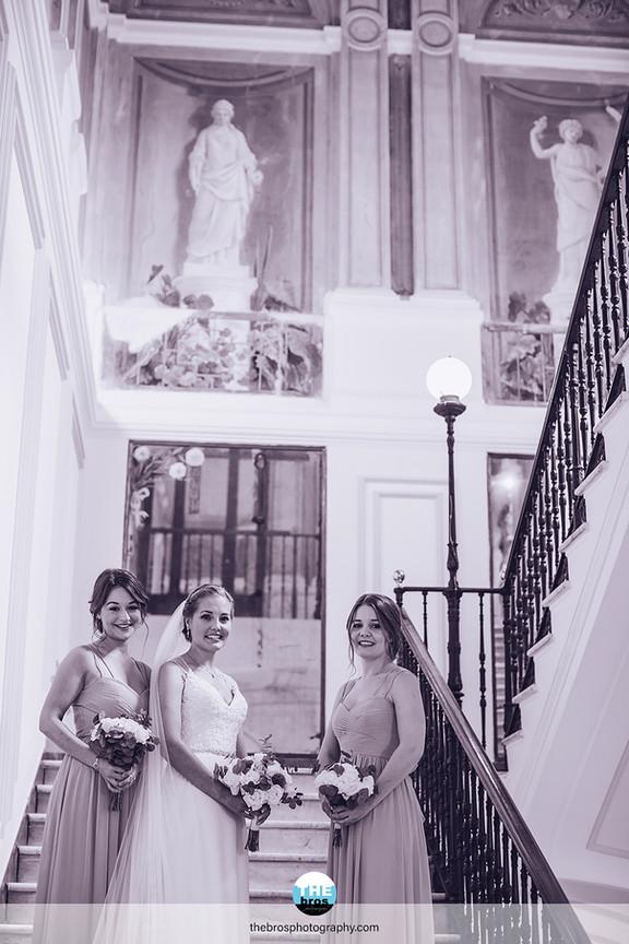 Bride and bridesmide