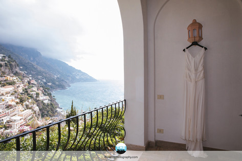 Wedding dress with a view