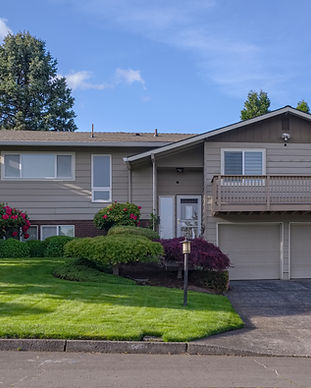 Family home and garden in Gresham Oregon