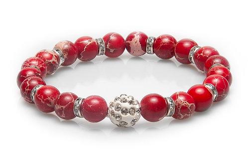 Kırmızı Varisit Doğal Taş Tamtur Bayan Bileklik