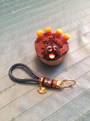 """Cupcake"" Keychain"
