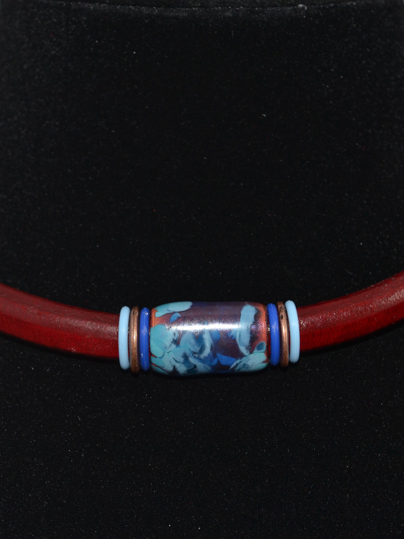 Blue and Brown Choker