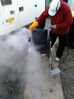 Wheelchair Steam Cleaning