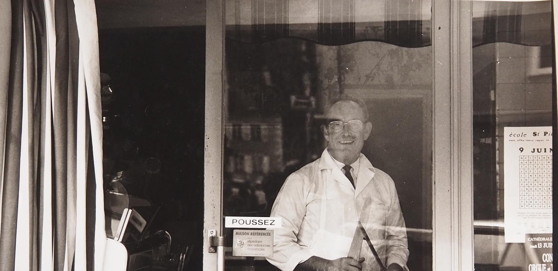 M.Mousset, boucher rue de la Foulerie
