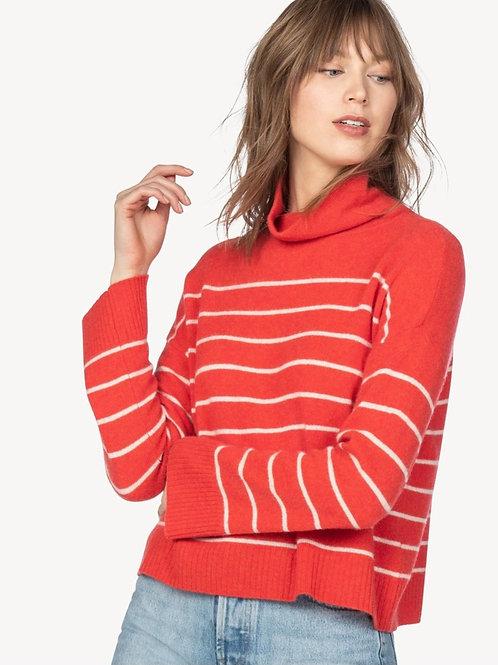 Easy Stripe Turtleneck Sweater