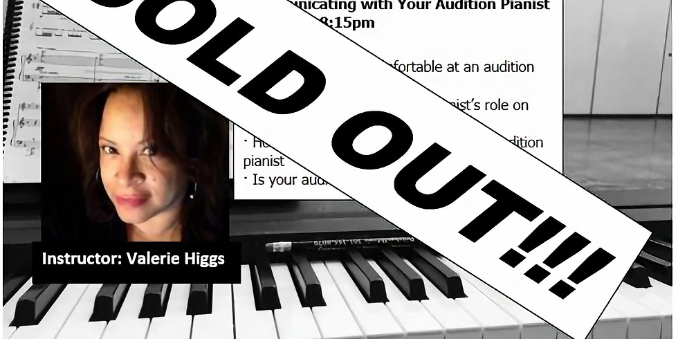 Communicating with Your Audition Pianist