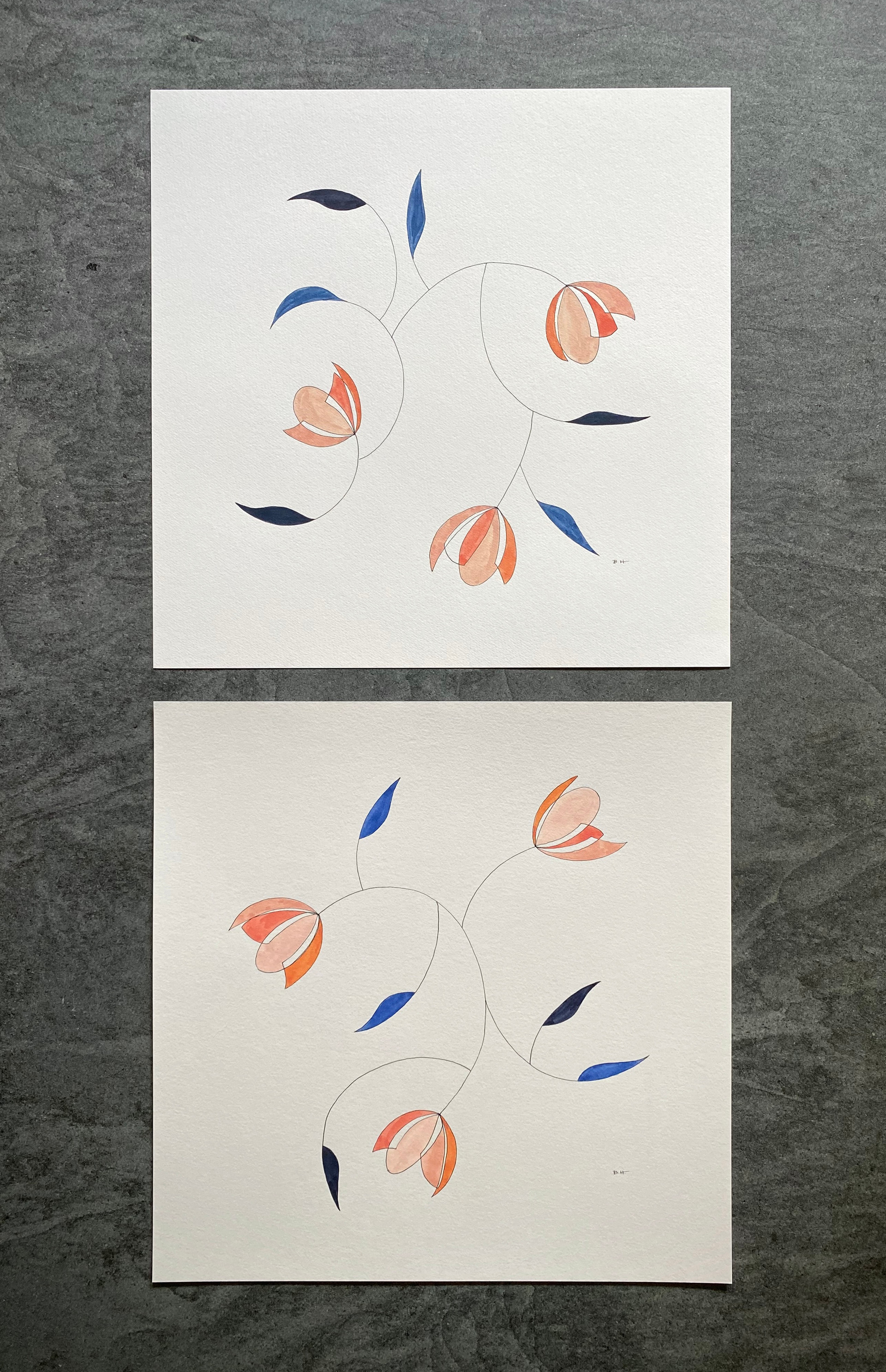 "16"" x 16"" each 