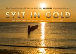 Kalender Sylt in Gold