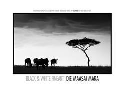 Kalender Die Masai Mara schwarzweiß