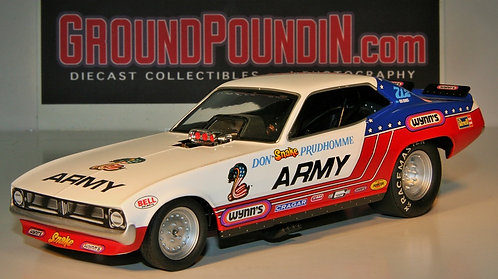 From 1320 The Snake Don Prudhomme ARMY NHRA Plymouth Barracuda Funny Car