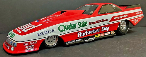 SIGNED W-COA 1/16th Milestone 1987 Kenny Bernstein Budweiser King NHRA Funny Car