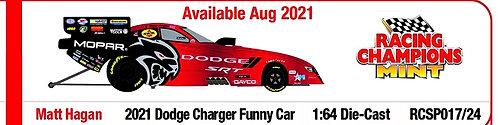 NEW PRE-ORDER 2021 Matt Hagan Dodge Charger SRT Hellcat Funny Car 1/64th
