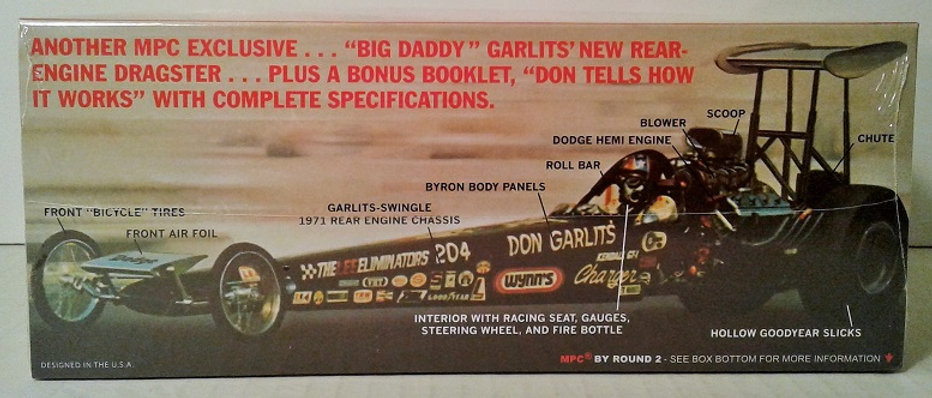 MPC868 Big Daddy Don Garlits SWAMP RAT 14 NHRA Top Fuel Dragster 1/25 model  kit | mysite-3