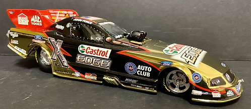 SIGNED COLORCHROME! 2009 John Force Castrol EDGE NHRA Mustang Funny Car 1 of 192