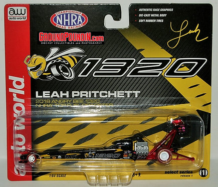 CHASE VERSION  2018 Leah Pritchett ANGRY BEE 1320 NHRA Top Fuel Dragster 1/64