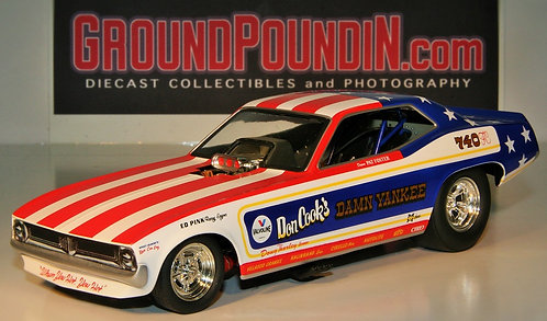 From 1320 Don Cook's DAMN YANKEE NHRA Plymouth Barracuda Funny Car 1/24 #1202