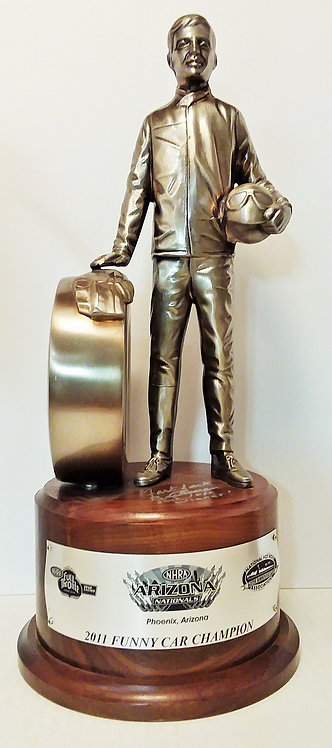 SIGNED W-COA 2011 Jack Beckman ARIZONA NATIONALS Funny Car Winner Wally Trophy