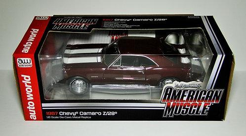RARE!! American Muscle 1967 Chevrolet Camaro Z-28 Madeira Maroon/Black Interior