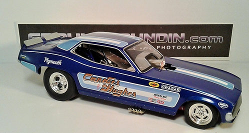From 1320 Inc. The Candies & Hughes NHRA Plymouth Barracuda Funny Car 1/24