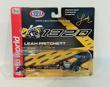 NEW!! 2018 Leah Pritchett ANGRY BEE 1320 NHRA Top Fuel Dragster 1/64th scale