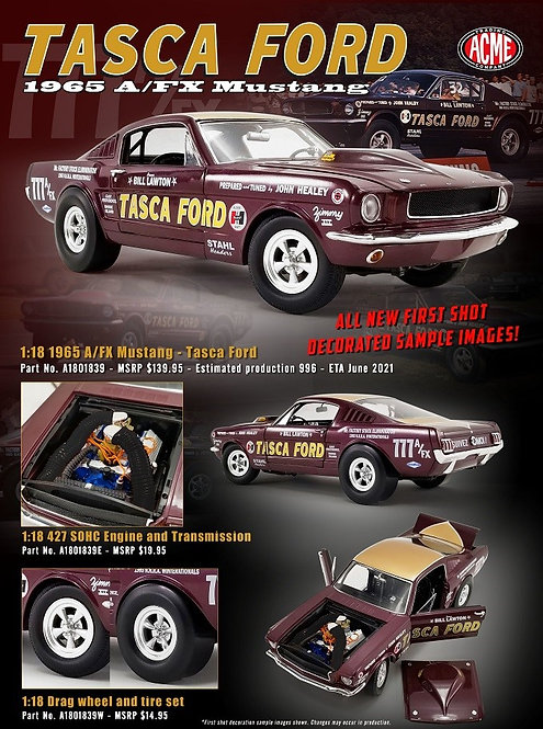 "ACME PREORDER 1965 Bill Lawton ""TASCA Ford"" Mustang A/FX NHRA 427 SOHC Drag Car"