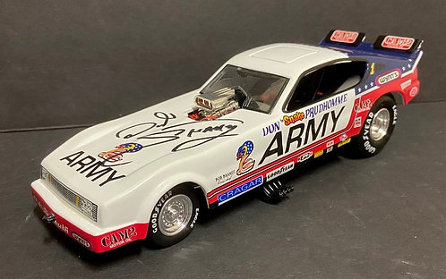 """SIGNED W-COA 1978 Don """"The Snake"""" Prudhomme ARMY Plymouth Arrow NHRA Funny Car"""