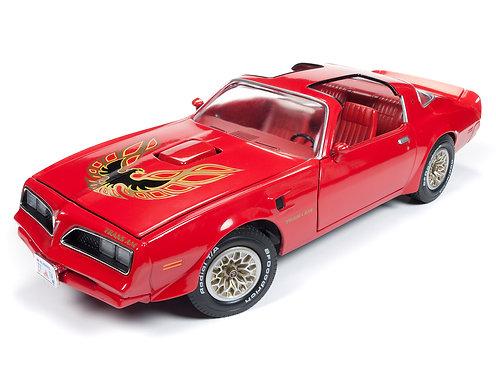 NEW! 1/18 American Muscle 1977 Buccaneer Red Pontiac Trans Am Firebird AMM1160
