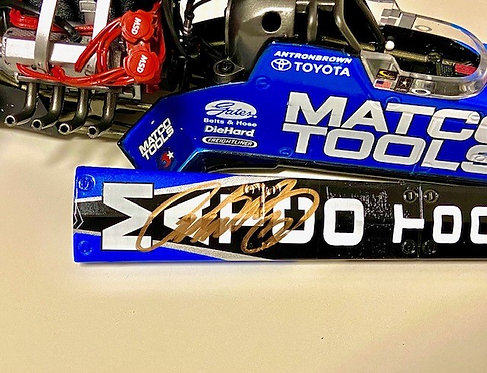 AUTOGRAPHED W-COA 2011 Antron Brown Matco Tools NHRA Top Fuel Dragster 1/24