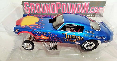 IN STOCK!!  Legends 1/18 Revell's Jungle Jim FLAMED BLUE Camaro NHRA Funny Car