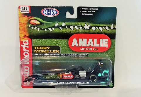 "NEW! 2018 Terry McMillen ""AMALIE OIL"" NHRA Top Fuel Dragster 1/64th scale"