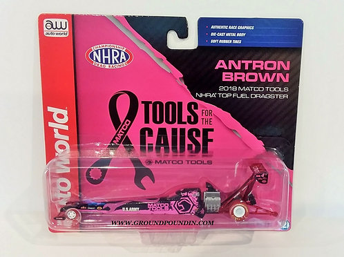 CHASE!!  2018 Antron Brown PINK CANCER AWARENESS Matco Tools NHRA Fuel Dragster
