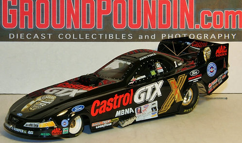 2001 John Force 10 Time Champion CASTROL GTX NHRA Ford Mustang Funny Car 1/24