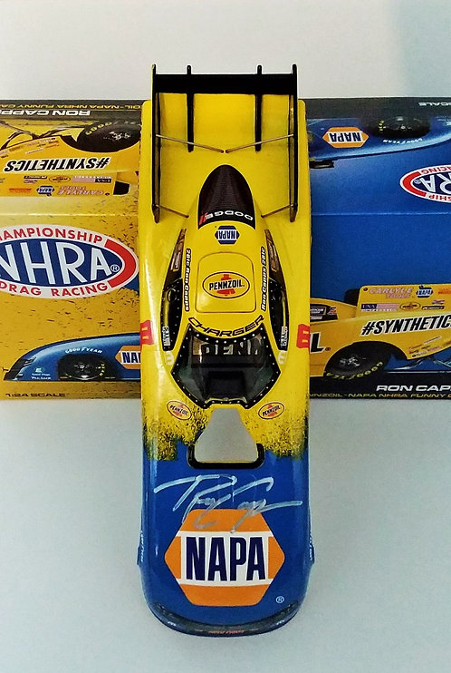 AUTOGRAPHED W-COA 2019 Ron Capps NAPA PENNZOIL NHRA Dodge Charger RT Funny Car