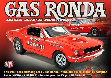 """ACME PREORDER 1965 Gas Ronda """"RUSS DAVIS"""" Ford"""" Mustang A/FX NHRA 427 SOHC"""