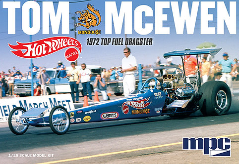 """MPC855 """"The Mongoose"""" Tom McEwen 1972 Hot Wheels rear engine dragster 1/25th"""