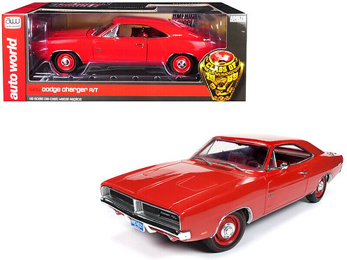 NEW! American Muscle 1969 HEMI Dodge Charger R/T RED on RED Class of 69 Series