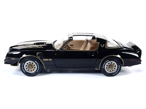 NEW American Muscle Black W-Gold Stripes 1977 Pontiac Trans Am Firebird AMM1177