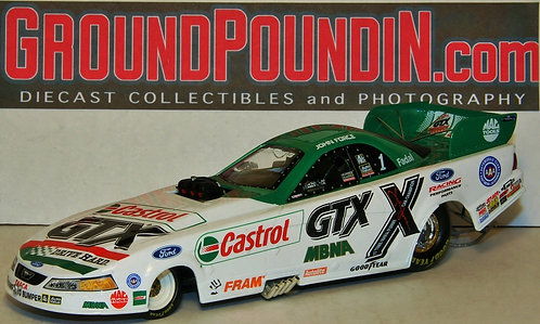 2002 John Force Castrol GTX Ford Mustang NHRA Funny Car 1/24