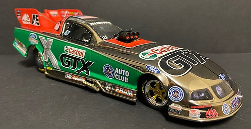 1 of 30! Autographed 2006 John Force WHITE GOLD Castrol GTX Mustang Funny Car