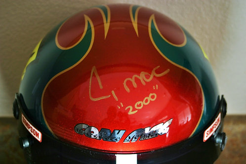 AUTOGRAPHED W-COA Cory McClenathan Authentic Full Size Simpson Helmet