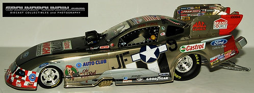 RARE COLORCHROME!!  2010 John Force Norwalk WARBIRD NHRA Ford Mustang Funny Car