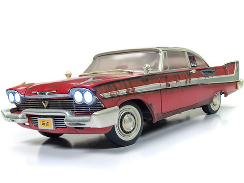NEW! AutoWorld 1/18 DIRTY & RUSTED VERSION 1958 PLYMOUTH FURY CHRISTINE AWSS119