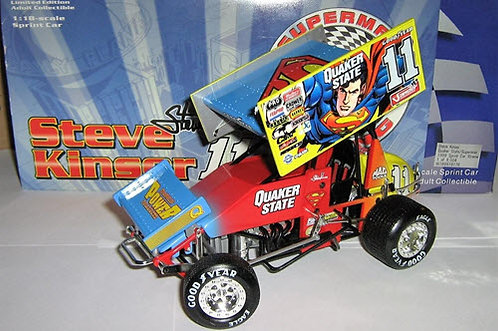 1999 Steve Kinser #11 Quaker State SUPERMAN Sprint Car 1/18th scale Action