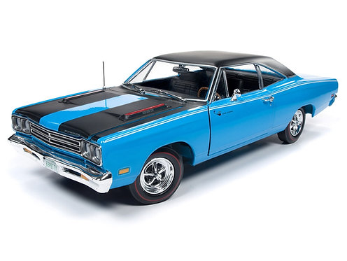 American Muscle 1969 Petty Blue Plymouth Road Runner 1/18th scale