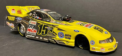 1 of 41 WHITE GOLD!  2011 John Force Castrol 15X Champion NHRA Mustang Funny Car